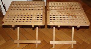 Klapptisch Massivholz.Details Zu 2x Ikea Hol Klapptisch Massivholz 49x49x50cm Tisch