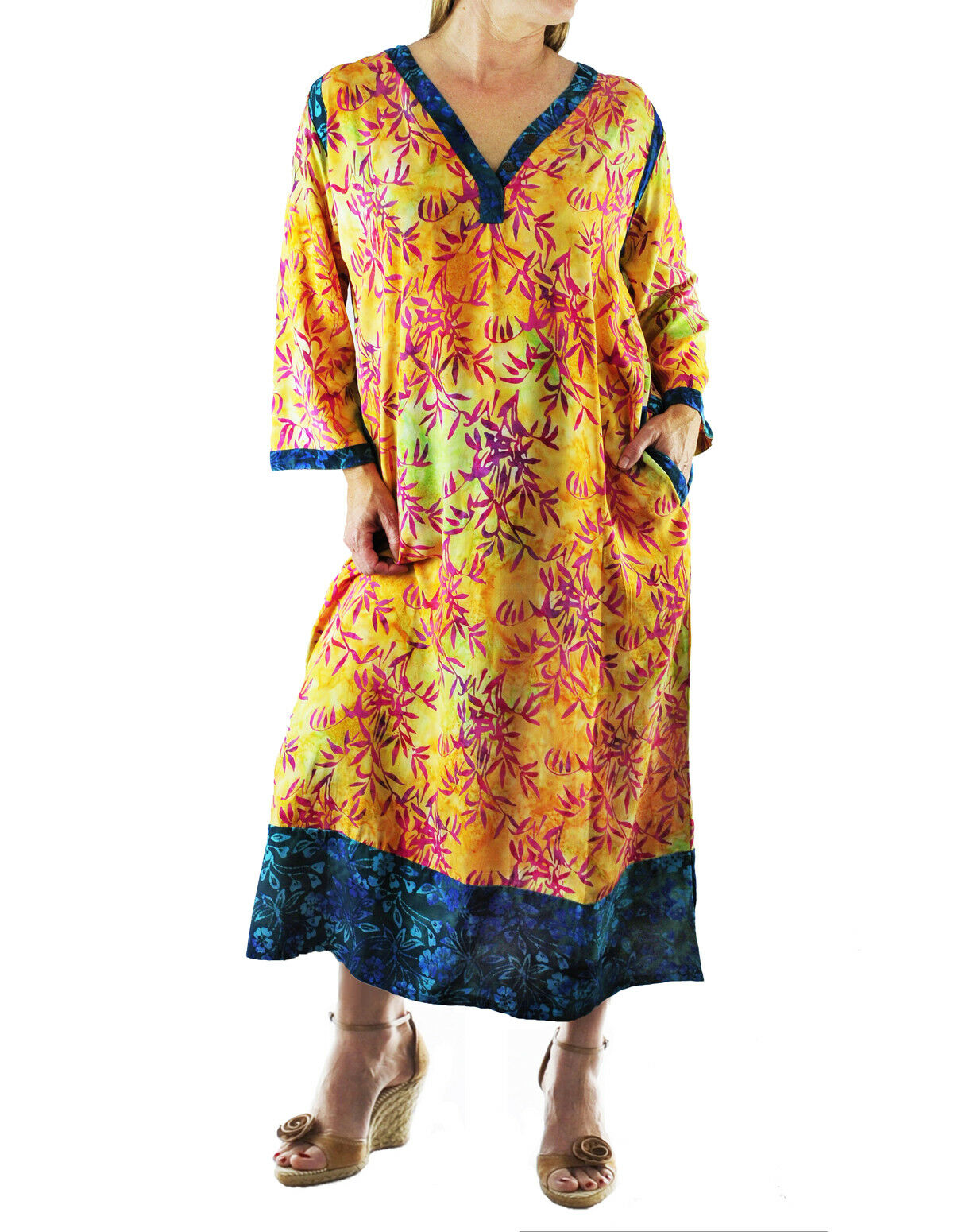 WeBeBop golden Sunrise COMBO Ubud Dress L XL 0X 1X 2X 3X 4X 5X 6X