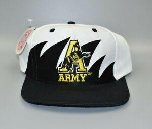 Army-Black-Knights-Logo-7-Sharktooth-Vintage-90s-Twill-Snapback-Cap-Hat-NWT
