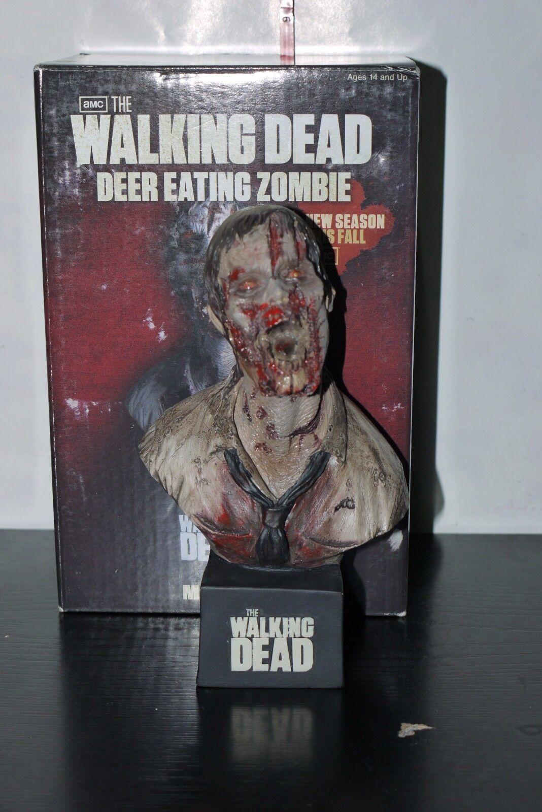 NECA DEER EATING ZOMBIE WALKING DEAD MINI BUST BOXED