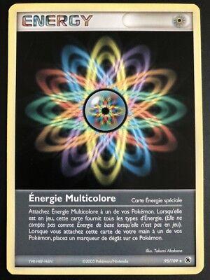 Carte Pokemon ENERGIE MULTICOLORE 95//109 Rare Reverse bloc Ex Française NEUF