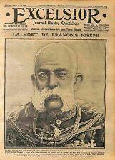 Dead Emperor Franz Joseph I of Austria François-Joseph Ier d'Autriche WWI 1916