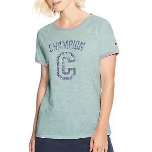 ae2897a322 Champion Women s Heritage Ringer Tee-big C W9843g 549691 Blue ...