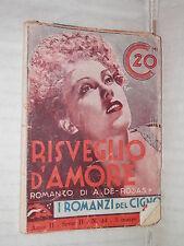 RISVEGLIO D AMORE A De Rosas Editrice Nicolli I Romanzi del Cigno 34 1935 libro