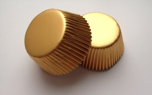 50 pcs Gold Cupcake Liners Baking Cup Shiny Aluminum Foil Metallic liner cups