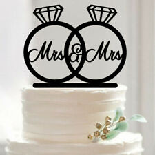 Mrs /& Mrs Diamantringform Hochzeit Engagement Acrylkuchendeckel
