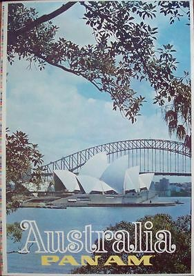 Pfanne Am Airways Airlines Australien Sydney 1969 Vintage Reisen Plakat 28x43 Nm Keep You Fit All The Time Transport