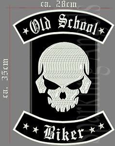circa 35cm x circa 28cm Old School Biker ricamate patch