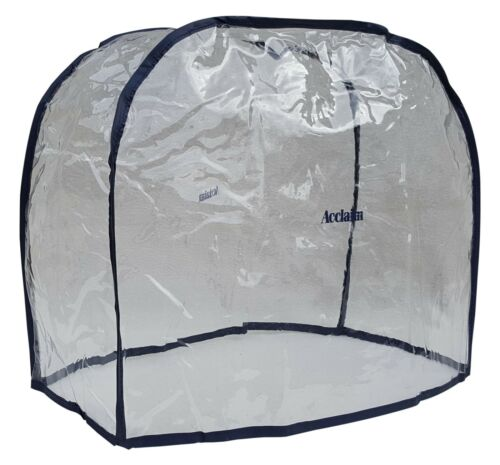 ACCLAIM Bag Cover Clear Navy Trim Waterproof Midi Bowls Bowling Clear Plastic