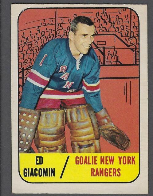 1967-68 Topps New York Rangers Hockey Card #85 Ed Giacomin