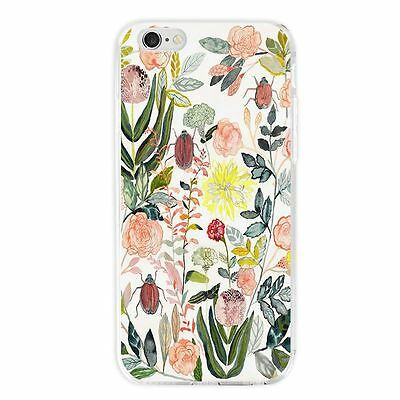 Flower Art Pattern Phone Case Slim TPU Shockproof Cover Shell for iPhone Samsung