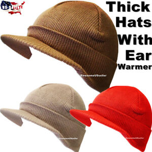 Men Women Hats Winter Warm Knit Cap Ski Hat Beanie Fleece Snow Caps Skull Cuff