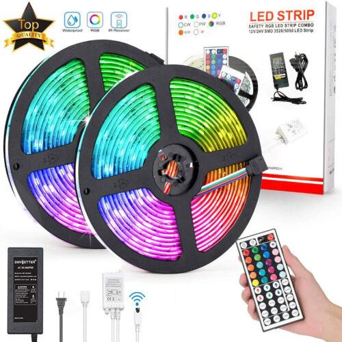 LED Strip Lights RGB SMD5050 DC12v Color Changing LED Tape Light Kit for TV Room