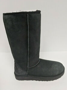 UGG Classic Tall II Boots, Black Suede, Women's 9 M