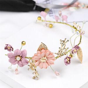 Purple-Bride-Headdress-Handmade-Hairband-Wedding-Bridal-Party-Hair-Decoration