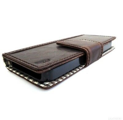genuine vintage leather Case For Sony Xperia Z1 book wallet brown magnet cover R