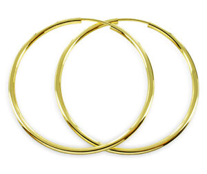 ECHT-GOLD-Grosse-duenne-Creolen-30-mm