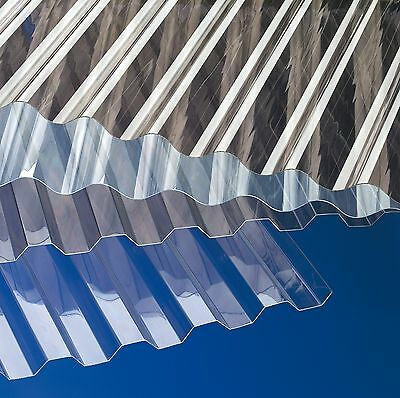 Polycarbonat Wellplatte Lichtplatten sinus trapez klar bronce