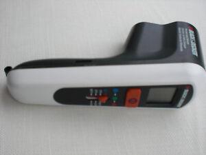 Inquiet Black & Decker Digital Infrarouge Thermomètre Tld100 D'énergie-détecteur-neuf --ometer Tld100 Energiespar - Detektor-neu- Fr-fr Afficher Le Titre D'origine Surface LustréE