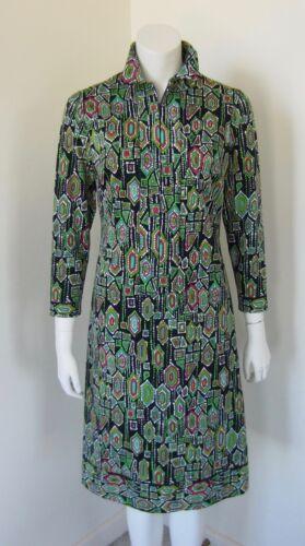 Vintage SAUL VILLA Art Print Dress Made In Italy S