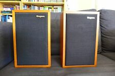 Rogers LS3/5a Main / Stereo Speakers 11 ohm Teak Bi-wire Exc. with box & manual
