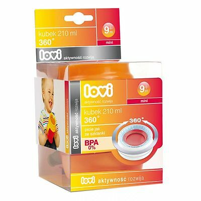NEW 360 Lovi Cup Baby Infant Toddler Sippy Cup Bottle Non Spill (210ml)