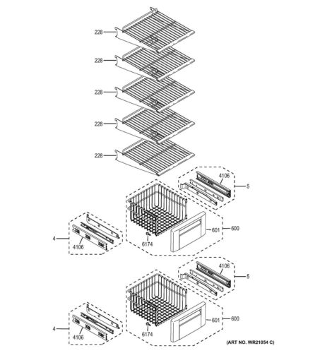 NEW OEM GE Refrigerator WIRE SHELF ASM FZ WR71X10810