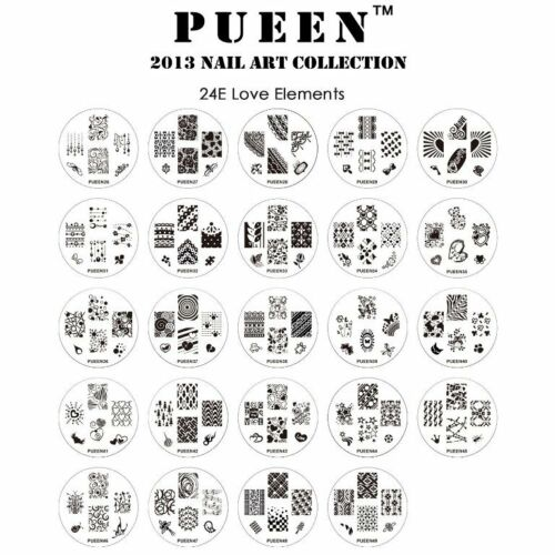 PUEEN 2013 Nail Image Stamp Plates Manicure Accessories Art Collection Set of 24
