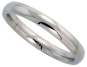 Stainless-Steel-Band-High-Polished-Silver-Finish-Ring
