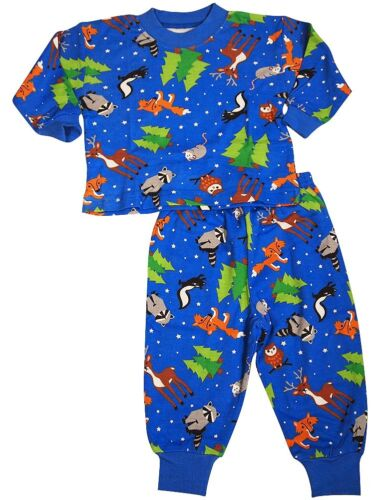 Sara/'s Prints Boys Long Sleeve 100/% Cotton 2 Piece Pajama Set Wear to fit snug