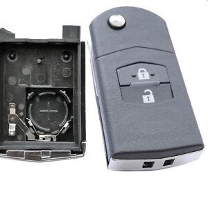 details zu auto klapp schlüssel gehäuse mazda 3 5 6 cx5 cx7 cx9 rx8  fernbedienung 2 tasten