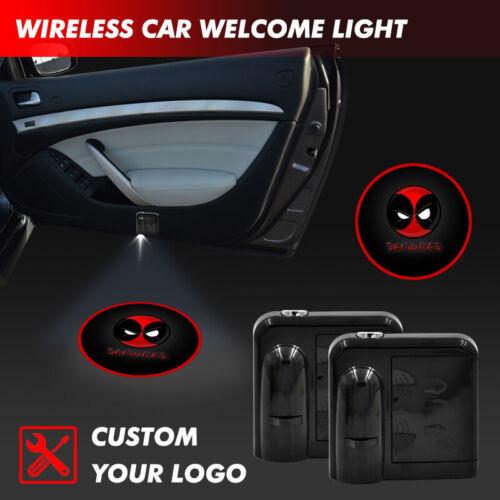 Car Door Welcome Deadpool Symbol Logo Projector Courtesy Step Ghost Shadow Light