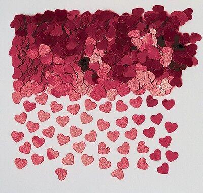 Hearts ShimmerRed Heart Wedding Table ConfettiFoiletti Decoration 14-84g