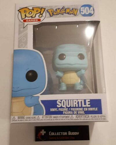 Games 504 Pokemon Squirtle Pop Vinyl Figure FU39442 Funko Pop