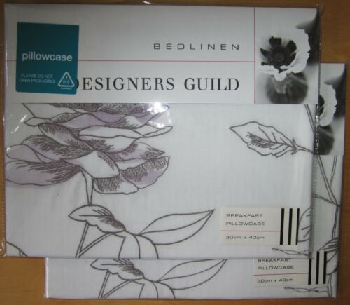 Designers Guild déjeuner paire de taies d/'oreillers nouveau rosa graphite