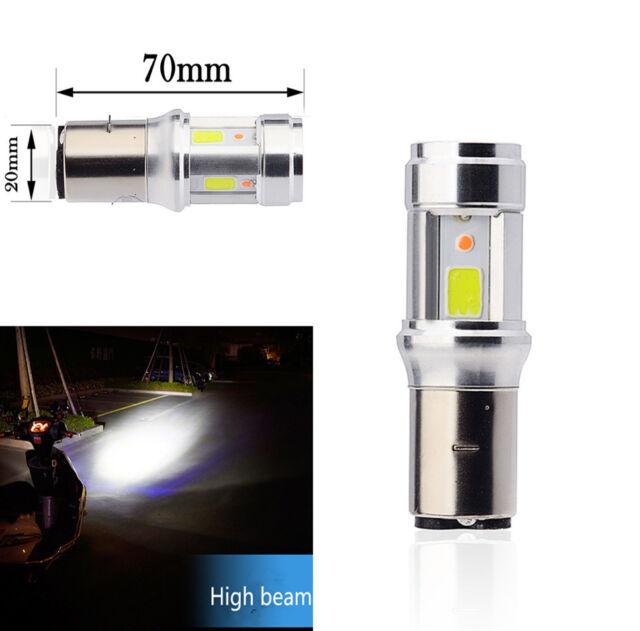 Ba20D Led Motorcycle Headlight  High Low Beam Lamp Scooter ATV Motor Fog Lights