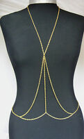 Stunning Sexy Body Belly Waist Bikini Harness Slave Necklace Chain Party Holiday