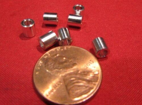 Aluminum Metric Spacer, M2.5 Screw, 4.5mm OD x 2.7mm ID x 5 mm Length, 30 pcs