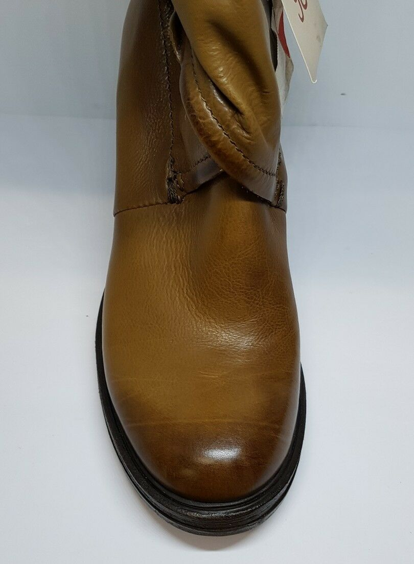 A.S.98 Cross Laid Leder Größe Ankle Stiefel Tan Braun Größe Leder EU 38 7c97ad