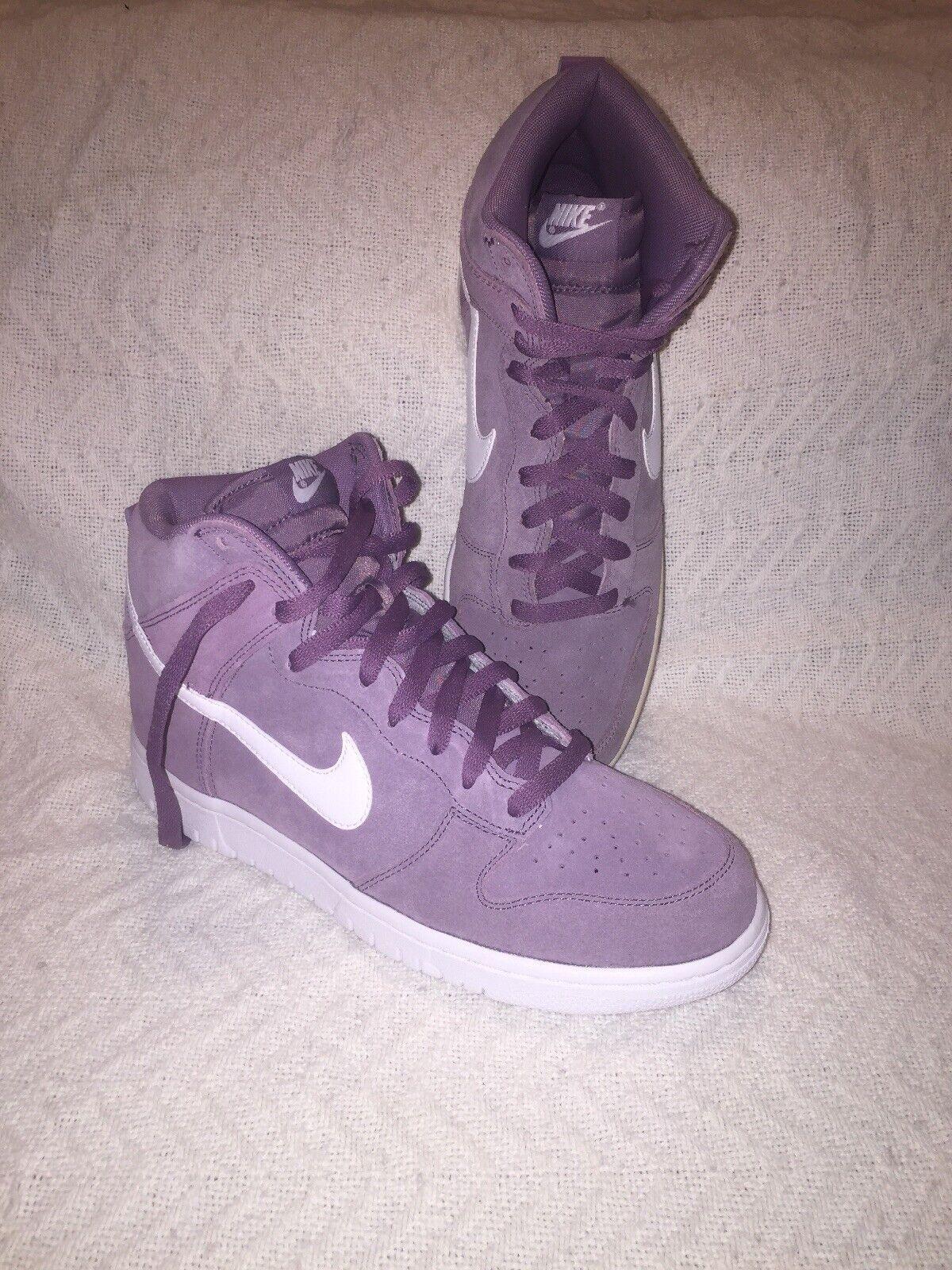 Nike Dunk Hi purple Dust White Poussiere VLT white size 9