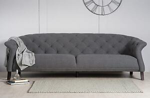 Chesterfield sofa modern  DESIGNER MODERN CONTEMPORARY CASPER CHESTERFIELD SOFA SET 3 + 4 ...