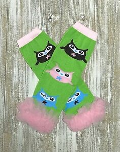 PERSONALIZED Pink and Lavender Owls /& Flowers Ruffle Ribbon Grosgrain Socks
