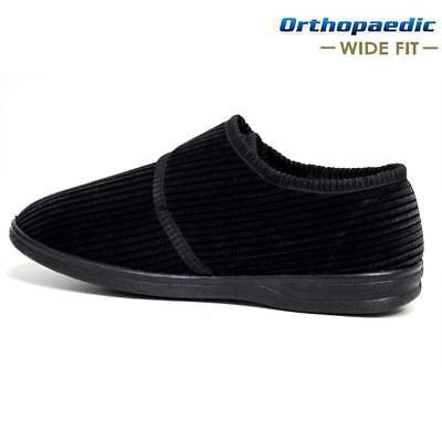 Para Hombre ortopédica fácil montaje de cierre de ancho diabética Correa Zapatillas Zapatos Talla 6-14