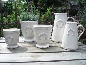 Bertopf antique wei kanne krug blumentopf for Blumentopf keramik