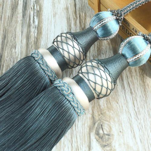 1 Pair Luxury Tassel Curtain Rope Tieback HoldBacks Tie Backs Home Decor 75cm