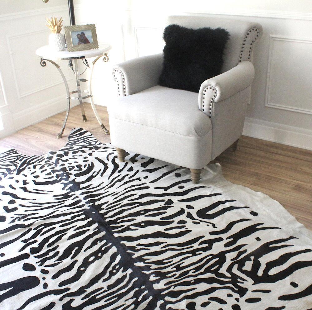 Tigre blancoo De Nieve Piel De Vaca Alfombra 3.6sqm