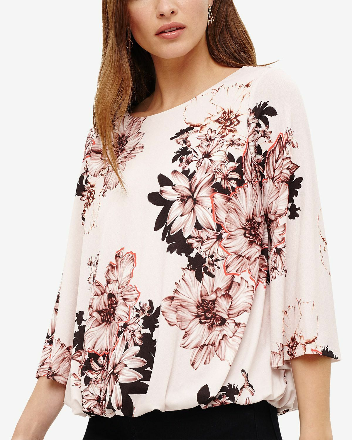 PHASE EIGHT WOMENS 'THEA' PINK FLORAL PRINT TOP -