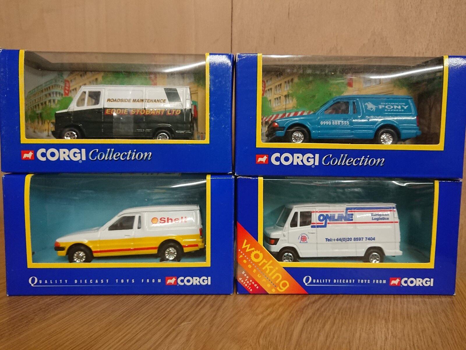 Corgi Joblot 4 x diecast 2 x Various Ford Escort Vans 2 x Mercedes 207D Vans