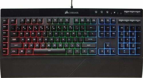 Black K55 Wired Gaming Membrane Keyboard with RGB Backlighting NEW CORSAIR