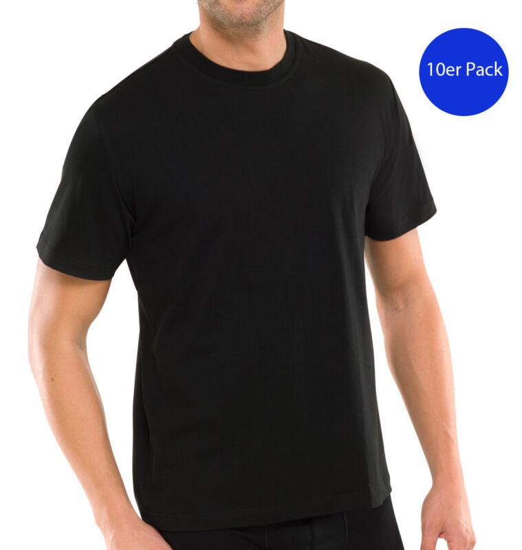 10 Schiesser Men American T-shirts Round Neck Single Jersey-black-show Original Title